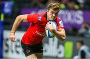 20 October 2018; Jacob Stockdale of Ulster breaks clear on his way to scoring his side's second try during the Heineken Champions Cup Pool 4 Round 2 match between Racing 92 and Ulster at Paris La Defence Arena, in Paris, France. Photo by John Dickson/Sportsfile