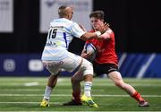 20 October 2018; Angus Kernohan of Ulster in action against Simon Zebo of Racing 92 during the Heineken Champions Cup Pool 4 Round 2 match between Racing 92 and Ulster at Paris La Defence Arena, in Paris, France. Photo by Brendan Moran/Sportsfile