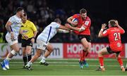 20 October 2018; Stuart McCloskey of Ulster is tackled by Vasil Kakovin of Racing 92 during the Heineken Champions Cup Pool 4 Round 2 match between Racing 92 and Ulster at Paris La Defence Arena, in Paris, France. Photo by Brendan Moran/Sportsfile