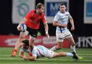 20 October 2018; Will Addison of Ulster breaks from the tackle of Leonard Paris of Racing 92 during the Heineken Champions Cup Pool 4 Round 2 match between Racing 92 and Ulster at Paris La Defence Arena, in Paris, France. Photo by Brendan Moran/Sportsfile