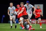 20 October 2018; Craig Gilroy of Ulster is tackled by Guram Gogichashvili of Racing 92 during the Heineken Champions Cup Pool 4 Round 2 match between Racing 92 and Ulster at Paris La Defence Arena, in Paris, France. Photo by Brendan Moran/Sportsfile