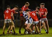 20 October 2018; Players from both sides contest the ball in the final seconds of the Mayo County Senior Club Football Championship Final match between Breaffy and Ballintubber at Elverys MacHale Park, in Castlebar, Mayo. Photo by Piaras Ó Mídheach/Sportsfile