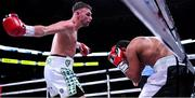 20 October 2018; Sean McComb, left, and Carlos Galindo during their super lightweight bout at TD Garden in Boston, Massachusetts, USA. Photo by Stephen McCarthy/Sportsfile
