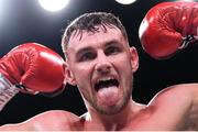 20 October 2018; Sean McComb celebrates following his super lightweight bout against Carlos Galindo at TD Garden in Boston, Massachusetts, USA. Photo by Stephen McCarthy/Sportsfile