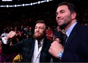 20 October 2018; UFC fighter Conor McGregor and Matchroom Boxing promoter Eddie Hearn in attendance at the TD Garden for the vacant WBO Middleweight title bout between Demetrius Andrade and Walter Kautondokwa in Boston, Massachusetts, USA. Photo by Stephen McCarthy/Sportsfile
