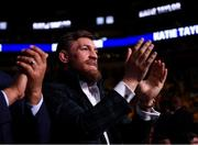 20 October 2018; UFC fighter Conor McGregor in attendance at the WBA & IBF Female Lightweight World title bout between Katie Taylor and Cindy Serrano at TD Garden in Boston, Massachusetts, USA. Photo by Stephen McCarthy/Sportsfile
