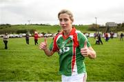 21 October 2018; Cora Staunton of Carnacon celebrates following the Mayo County Senior Club Ladies Football Final match between Carnacon and Knockmore at Kilmeena GAA Club in Mayo. Photo by David Fitzgerald/Sportsfile