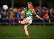 21 October 2018; Cora Staunton of Carnacon kicks a point during the Mayo County Senior Club Ladies Football Final match between Carnacon and Knockmore at Kilmeena GAA Club in Mayo. Photo by David Fitzgerald/Sportsfile