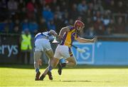 21 October 2018; Ryan O'Dwyer of Kilmacud Crokes in action against Aidan Mellett of Ballyboden St Enda's during the Dublin County Senior Club Hurling Championship Final match between Kilmacud Crokes and Ballyboden St Enda's at Parnell Park, in Dublin. Photo by Daire Brennan/Sportsfile