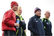 21 October 2018; Carnacon staff, from left, selector Jim Twohig, joint-manager Beatrice Casey, joint-manager Jimmy Corbett and selector Michael McHale during the Mayo County Senior Club Ladies Football Final match between Carnacon and Knockmore at Kilmeena GAA Club in Mayo. Photo by David Fitzgerald/Sportsfile