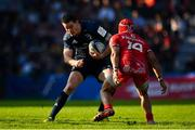 21 October 2018; Jonathan Sexton of Leinster is tackled by Cheslin Kolbe of Toulouse during the Heineken Champions Cup Pool 1 Round 2 match between Toulouse and Leinster at Stade Ernest Wallon, in Toulouse, France. Photo by Brendan Moran/Sportsfile