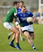 21 October 2018; Dermot Molloy of Naomh Conaill Glenties in action against Michael Carroll of Gaoth Dobhair during the Donegal County Senior Club Football Championship Final match between Naomh Conaill Glenties and Gaoth Dobhair at MacCumhaill Park, in Ballybofey, Donegal. Photo by Oliver McVeigh/Sportsfile