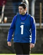 21 October 2018; Naomh Conaill Glenties Manager Martin Regan during the Donegal County Senior Club Football Championship Final match between Naomh Conaill Glenties and Gaoth Dobhair at MacCumhaill Park, in Ballybofey, Donegal. Photo by Oliver McVeigh/Sportsfile