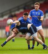 21 October 2018; Danny Gorman of Killyclogher in action against Patrick McNiece of Coalisland during the Tyrone County Senior Club Football Championship Final match between Coalisland Fianna and Killyclogher St Mary's at Healy Park, Omagh, in Tyrone. Photo by Philip Fitzpatrick/Sportsfile