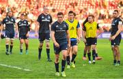 21 October 2018; Jordan Larmour of Leinster and the rest of the Leinster team leave the pitch after the Heineken Champions Cup Round Pool 1 Round 2 match between Toulouse and Leinster at Stade Ernest Wallon, in Toulouse, France. Photo by Brendan Moran/Sportsfile