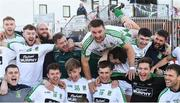 21 October 2018; Daryl Flynn of Moorefield, top, during the celebrations after the Kildare County Senior Club Football Championship Final match between Athy and Moorefield at St Conleth's Park, in Newbridge, Kildare. Photo by Piaras Ó Mídheach/Sportsfile