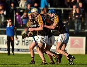 21 October 2018; Ballyea players from left Brian Casey, Brandon O'Neill, Jack Browne and James Murphy celebrate after the Clare County Senior Club Hurling Championship Final match between Cratloe and Ballyea at Cusack Park, in Ennis, Clare. Photo by Matt Browne/Sportsfile