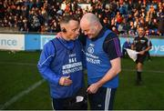21 October 2018; Kilmacud Crokes manager Anthony Daly shakes hands with Ballyboden St Enda's manager Joe Fortune after the Dublin County Senior Club Hurling Championship Final match between Kilmacud Crokes and Ballyboden St Enda's at Parnell Park, in Dublin. Photo by Daire Brennan/Sportsfile