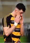 21 October 2018; Conor Rehill of Crosserlough reacts following his side's defeat during the Cavan County Senior Club Football Championship Final match between Castlerahan and Crosserlough at Kingspan Breffni Park in Cavan. Photo by Seb Daly/Sportsfile
