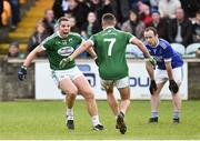 21 October 2018; Kevin Cassidy and Odhran McFadden-Ferry of Gaoth Dobhair celebrate after the final whistle in the Donegal County Senior Club Football Championship Final match between Naomh Conaill Glenties and Gaoth Dobhair at MacCumhaill Park, in Ballybofey, Donegal. Photo by Oliver McVeigh/Sportsfile