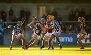 21 October 2018; Caolán Conway of Kilmacud Crokes in action against Conor Dooley of Ballyboden St Enda's during the Dublin County Senior Club Hurling Championship Final match between Kilmacud Crokes and Ballyboden St Enda's at Parnell Park, in Dublin. Photo by Daire Brennan/Sportsfile