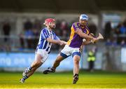 21 October 2018; Ross O'Carroll of Kilmacud Crokes in action against Niall McMorrow of Ballyboden St Enda's during the Dublin County Senior Club Hurling Championship Final match between Kilmacud Crokes and Ballyboden St Enda's at Parnell Park, in Dublin. Photo by Daire Brennan/Sportsfile