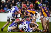 21 October 2018; Players from both sides scramble for the ball during the Dublin County Senior Club Hurling Championship Final match between Kilmacud Crokes and Ballyboden St Enda's at Parnell Park, in Dublin. Photo by Daire Brennan/Sportsfile