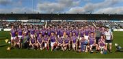21 October 2018; The Kilmacud Crokes panel ahead of the Dublin County Senior Club Hurling Championship Final match between Kilmacud Crokes and Ballyboden St Enda's at Parnell Park, in Dublin. Photo by Daire Brennan/Sportsfile