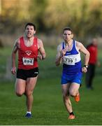 21 October 2018; Paul Smith of Drogheda & District A.C. Co. Louth, left and James McFadden of Finn Valley A.C. Co. Donegal competing in the Senior Male's during the Autumn Open International Cross Country Festival at the National Sports Campus in Abbottstown, Dublin. Photo by Harry Murphy/Sportsfile