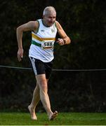21 October 2018; Pat Harding of St Abbans A.C. Co. Laois competing in the Mast Male 65+'s during the Autumn Open International Cross Country Festival at the National Sports Campus in Abbottstown, Dublin. Photo by Harry Murphy/Sportsfile