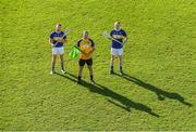 22 October 2018; Former Tipperary players from left, Paddy Stapleton, Brendan Cummins, and Lar Corbett, at the launch of the Tipperary v Kilkenny: The Legends Return — a benefit match for Amanda Stapleton. Henry Shefflin, Tommy Walsh, Lar Corbett, Eoin Kelly and a host of current stars will line out for this fantastic cause on November 3rd in Borrisoleigh GAA, Co Tipperary — get your adults tickets for just €20 in Centra or on Tickets.ie; Under-16s are free. https://secure.tickets.ie/Listing/EventInformation/39036/amanda-stapleton-benefit-match-tipperary-v-kilkenny-bishop-quinlan-park-3-November-2018 during an Amanda Stapleton Benefit Match media event at Borrisoleigh GAA Club in Borrisoleigh, Tipperary. Photo by Piaras Ó Mídheach/Sportsfile