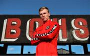 22 October 2018; Mitchell Byrne of Bohemians U19s poses for a portrait during the Bohemians Uefa Youth League press briefing at Dalymount Park in Dublin. Photo by Seb Daly/Sportsfile