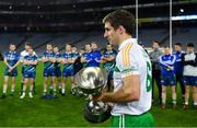 22 October 2018; Winning captain Gary White of The Irish Defence Forces with the cup after the John Morley Memorial Cup match between The Irish Defence Forces and An Garda Síochána at Croke Park in Dublin.  Photo by Piaras Ó Mídheach/Sportsfile