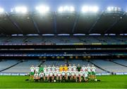 22 October 2018; The Irish Defence Forces squad before the John Morley Memorial Cup match between The Irish Defence Forces and An Garda Síochána at Croke Park in Dublin.  Photo by Piaras Ó Mídheach/Sportsfile