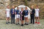23 October 2018; In attendace at the launch of the AIB Camogie and Club Championship are, from left, Scotstown and Monaghan goalkeeper, Rory Beggan, Uachtarán Chumann Lúthchleas Gael John Horan, Midleton and Cork Senior Hurler, Conor Lehane, Camogie Association President Kathleen Woods, Naomh Jude and Dublin Senior Camogie goalkeeper, Faye McCarthy, Denis O'Callaghan, Head of AIB Retail Banking, and Ballintubber and Mayo footballer, Diarmuid O'Connor. This is AIB's 28th year sponsoring the AIB GAA Football, Hurling and their 6th year sponsoring the Camogie Club Championships. For exclusive content and behind the scenes action throughout the AIB GAA & Camogie Club Championships follow AIB GAA on Facebook, Twitter, Instagram and Snapchat. Photo by Piaras Ó Mídheach/Sportsfile