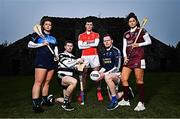 23 October 2018; At the launch of the AIB Camogie and Club Championship are, from left,  Naomh Jude and Dublin Senior Camogie goalkeeper Faye McCarthy, Midleton and Cork Senior Hurler Conor Lehane, Ballintubber and Mayo footballer Diarmuid O'Connor, Scotstown and Monaghan goalkeeper Rory Beggan, St Martin's and Wexford camogie player Mags D'Arcy. This is AIB's 28th year sponsoring the AIB GAA Football, Hurling and their 6th year sponsoring the Camogie Club Championships. For exclusive content and behind the scenes action throughout the AIB GAA & Camogie Club Championships follow AIB GAA on Facebook, Twitter, Instagram and Snapchat.   Photo by Ramsey Cardy/Sportsfile