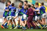 23 October 2018; Rocco Byrne and Jack Robinson from St. Oliver Plunkett NS, Malahide, Co Dublin, during day 2 of the Allianz Cumann na mBunscol Finals at Croke Park in Dublin. Photo by Harry Murphy/Sportsfile