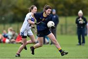 24 October 2018; Lauren Deay of DCU 3 in action against Leah Shekelton of DIT 2 during the Junior Final during the 2018 Gourmet Food Parlour HEC Freshers Blitz at Dublin City University in Dublin. Photo by Matt Browne/Sportsfile
