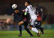 24 October 2018; Sery Japhet Larsen of FC Midtjylland in action against Ali Reghba of Bohemians during the UEFA Youth League, 1st Round, 2nd Leg, match between Bohemians and FC Midtjylland at Dalymount Park in Dublin. Photo by Harry Murphy/Sportsfile