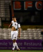 24 October 2018; Ali Reghba of Bohemians reacts following the UEFA Youth League, 1st Round, 2nd Leg, match between Bohemians and FC Midtjylland at Dalymount Park in Dublin. Photo by Harry Murphy/Sportsfile