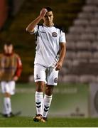 24 October 2018; Ali Reghba of Bohemians looks dejected following the UEFA Youth League, 1st Round, 2nd Leg, match between Bohemians and FC Midtjylland at Dalymount Park in Dublin. Photo by Harry Murphy/Sportsfile