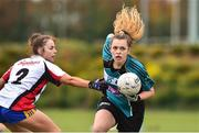24 October 2018; Abigail Timmons of Maynooth University in action during the Intermediate final between IT Sligo and Maynooth University at the 2018 Gourmet Food Parlour HEC Freshers Blitz at Dublin City University in Dublin. Photo by Matt Browne/Sportsfile