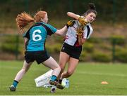 24 October 2018; Leah Sweeney of IT Sligo, right, in action against Emma Maria Cronin of Maynooth University during the Intermediate final between IT Sligo and Maynooth University at the 2018 Gourmet Food Parlour HEC Freshers Blitz at Dublin City University in Dublin. Photo by Matt Browne/Sportsfile