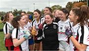24 October 2018; IT Sligo players celebrate after the Intermediate final between IT Sligo and Maynooth University at the 2018 Gourmet Food Parlour HEC Freshers Blitz at Dublin City University in Dublin. Photo by Matt Browne/Sportsfile