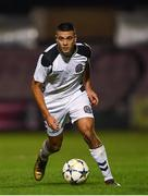 24 October 2018; Ali Reghba of Bohemians during the UEFA Youth League, 1st Round, 2nd Leg, match between Bohemians and FC Midtjylland at Dalymount Park in Dublin. Photo by Harry Murphy/Sportsfile