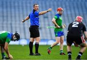 22 October 2018; Referee, and member of An Garda Síochána, Alan Kelly during the President's Cup match between The Irish Defence Forces and An Garda Síochána at Croke Park in Dublin.  Photo by Piaras Ó Mídheach/Sportsfile