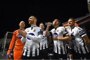 26 October 2018; Stephen O'Donnell and his Dundalk team-mates prior to the SSE Airtricity League Premier Division match between Bohemians and Dundalk at Dalymount Park in Dublin. Photo by Stephen McCarthy/Sportsfile