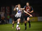 26 October 2018; Sean Hoare of Dundalk in action against Kevin Devaney of Bohemians during the SSE Airtricity League Premier Division match between Bohemians and Dundalk at Dalymount Park in Dublin. Photo by Stephen McCarthy/Sportsfile