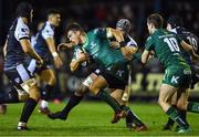26 October 2018; Tom Farrell of Connacht is tackled by Dan Lydiate of Ospreys during the Guinness PRO14 Round 7 match between Ospreys and Connacht at Morganstone Brewery Field in Bridgend, Wales. Photo by Be Evans/Sportsfile