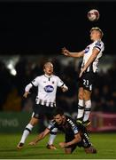 26 October 2018; Daniel Cleary and John Mountney, left, of Dundalk in action against Dinny Corcoran of Bohemians during the SSE Airtricity League Premier Division match between Bohemians and Dundalk at Dalymount Park in Dublin. Photo by Stephen McCarthy/Sportsfile